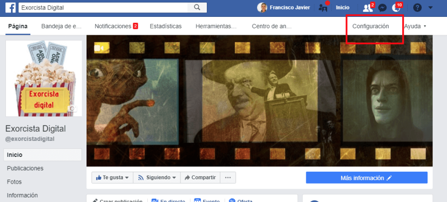 configurar pagina empresa en facebook