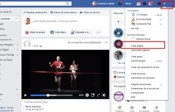 crea pagina de facebook empresa