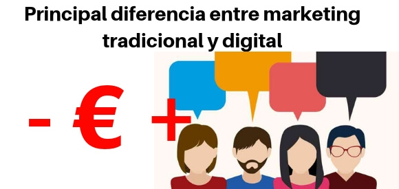 marketing tradicional y digital diferencias